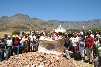 District Six ex-residents conduct a ritual of memory on the District Six site on the 44th anniversary of the day the area was declared a White Group Area, 11 February 2010.