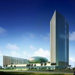 Architectual image of the African Union headquarters, opening in January 2012.